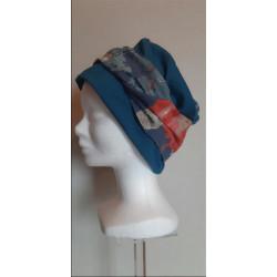 Bonnet chimio CORINE bleu...