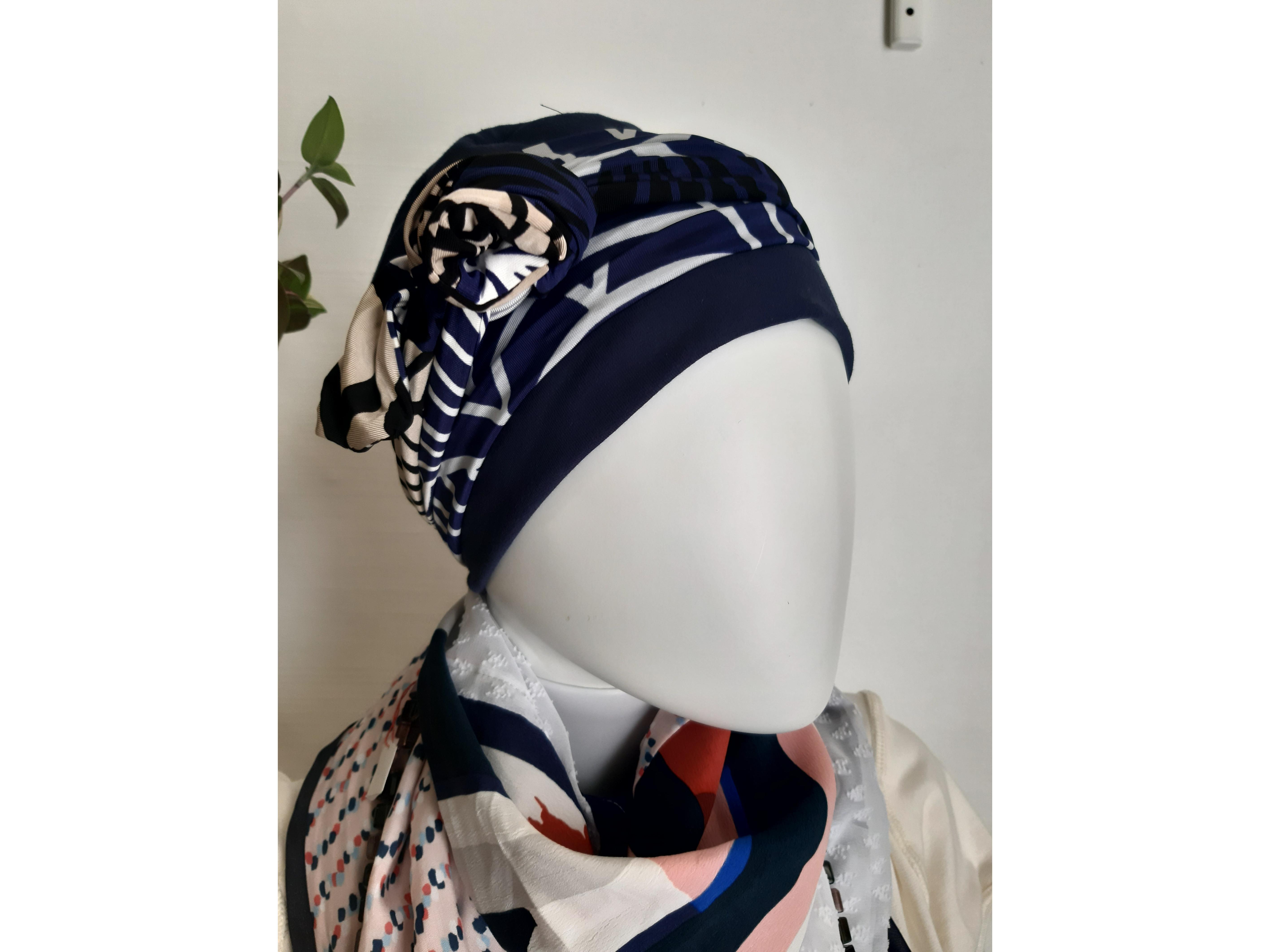 Bonnet et foulard chimio